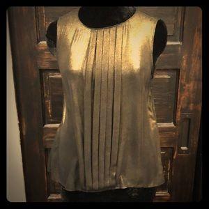 BB Dakota black gold shimmer party shirt